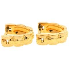 Cartier 18 karat Gold Panthere Stirrup Cufflinks