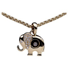 Chopard Happy Diamond Elephant Pendant Necklace