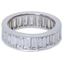 Cartier Baguette Diamond Eternity Band in Platinum 6.00 Carat