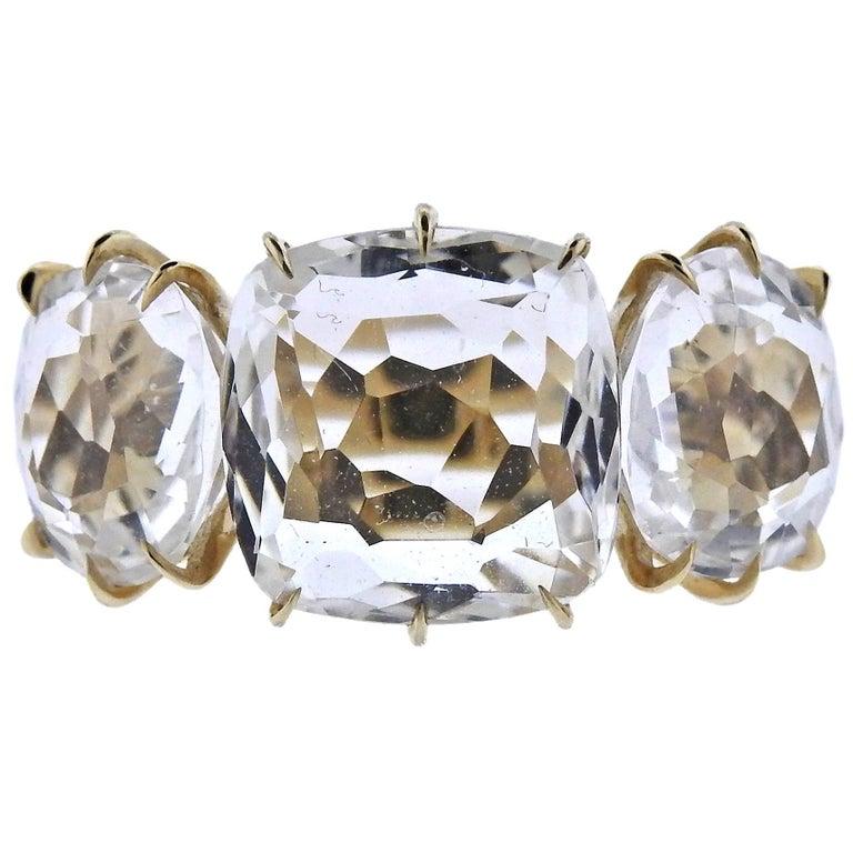 H. Stern Moonlight Crystal Diamond Gold Ring