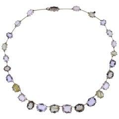 H. Stern Sunrise Quartz Amethyst Diamond Gold Necklace