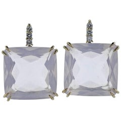 H. Stern Cobblestone Rose Quartz Diamond Gold Earrings