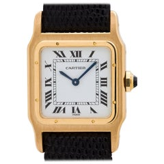 Cartier Yellow Gold Santos Mechanical Wristwatch, circa 1970s