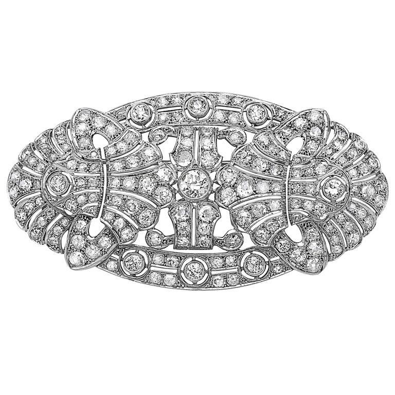 Emilio Jewelry 15.00 Carat Diamond Brooch or Pendant For Sale