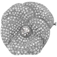 Emilio Jewelry 7.50 Carat Diamond Brooch