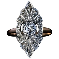 Art Deco 1930S Russian Diamond Engagement Ring