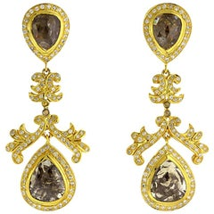 Brown Ice Diamond Earring