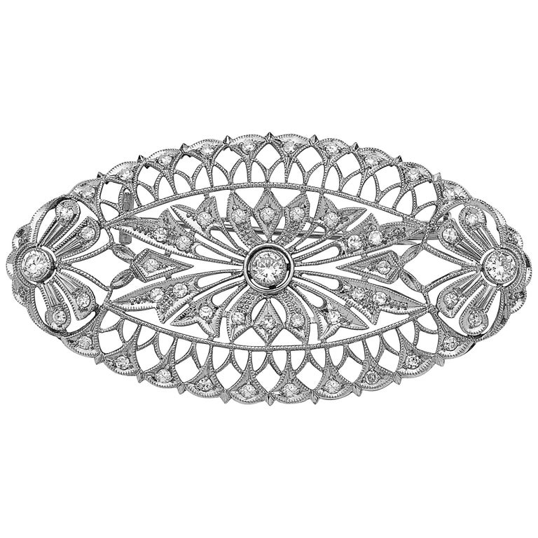 Emilio Jewelry Diamond Brooch
