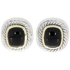 David Yurman Black Onyx Albion Collection Earrings