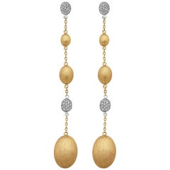 Emilio Jewelry 18 Karat Gold Diamond Earrings