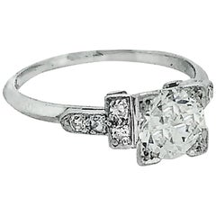 100 carat diamond antique engagement ring platinum - 1920s Wedding Rings