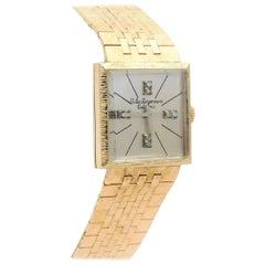 Jules Jergensen Yellow Gold Original Diamond Dial Manual Wristwatch, circa 1945