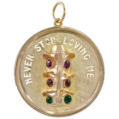 Never Stop Loving You Gold Stoplight Charm