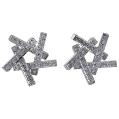 Frank Gehry for Tiffany & Co. Diamond and White Gold Axis Earrings