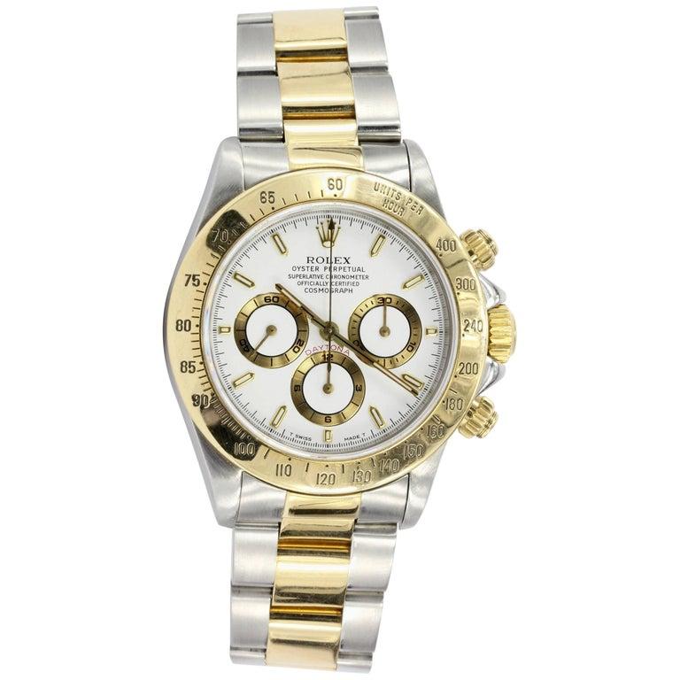 Rolex Yellow Gold Stainless Steel Daytona Wristwatch Ref 16523, circa 1995