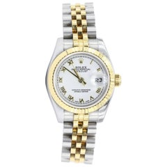 Rolex Ladies Yellow Gold Stainless Steel Wristwatch Ref 179173