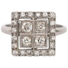 .50 Carat, Total Weight Diamond Platinum Engagement Ring