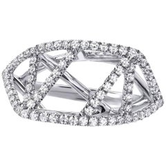 Diamond Lattice White Gold Ring