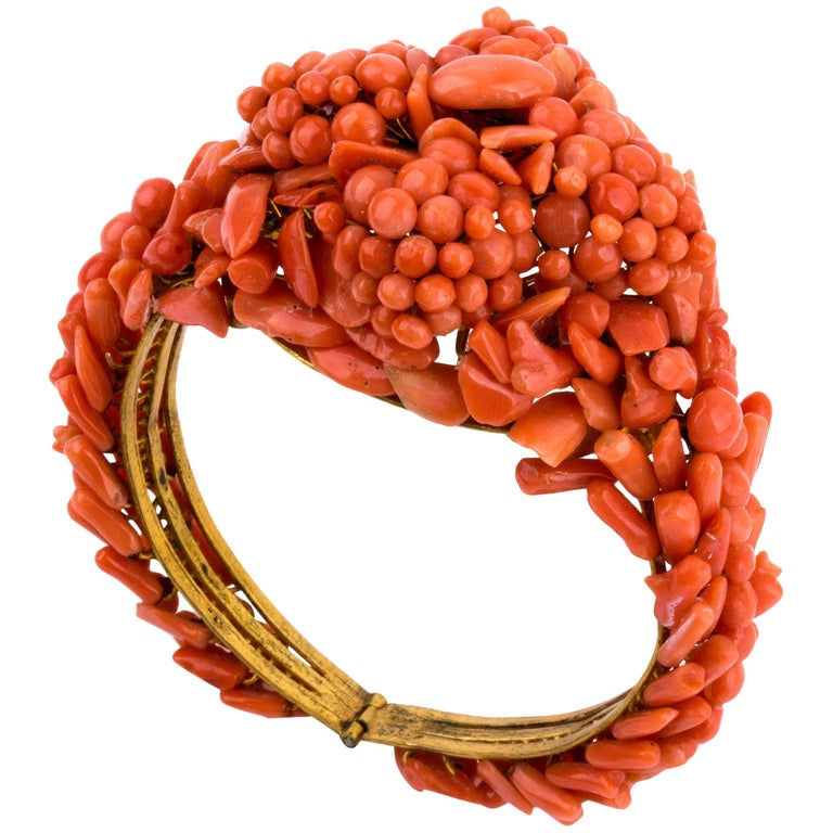 Coral Bracelet, Sicily Italy, Early 20th Century