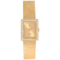 Concord Yellow Gold diamond bezel Classique Quartz Wristwatch