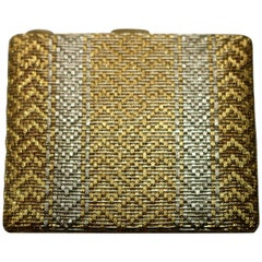 White and Yellow Gold Cigarette Case