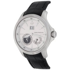 Girard Perregaux stainless steel Traveller Moonphase Automatic Wristwatch