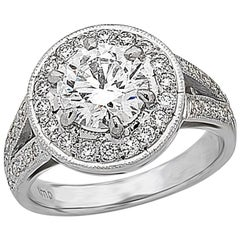 1.81 carat Centre Halo Cluster Diamond Ring