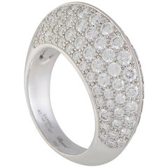 Chopard White and Brown Diamond Pave Double Sided White Gold Ring