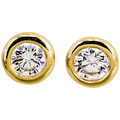 Bucherer Diamond and Gold Stud Earrings