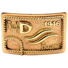 Edward H. Bohlin 14 Karat Yellow Gold Red River D 1946 Belt Buckle