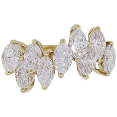 Marquise Cut Diamond Cluster Ring