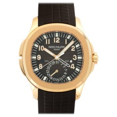 Patek Philippe Rose Gold Aquanaut Travel Time Wristwatch Ref 5164R