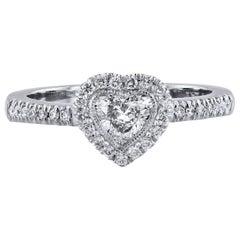 H & H 0.51 Carat Heart-Shaped Diamond Engagement Ring