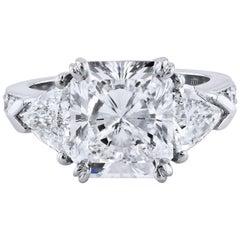 H & H 4.33 Carat Diamond Engagement Ring
