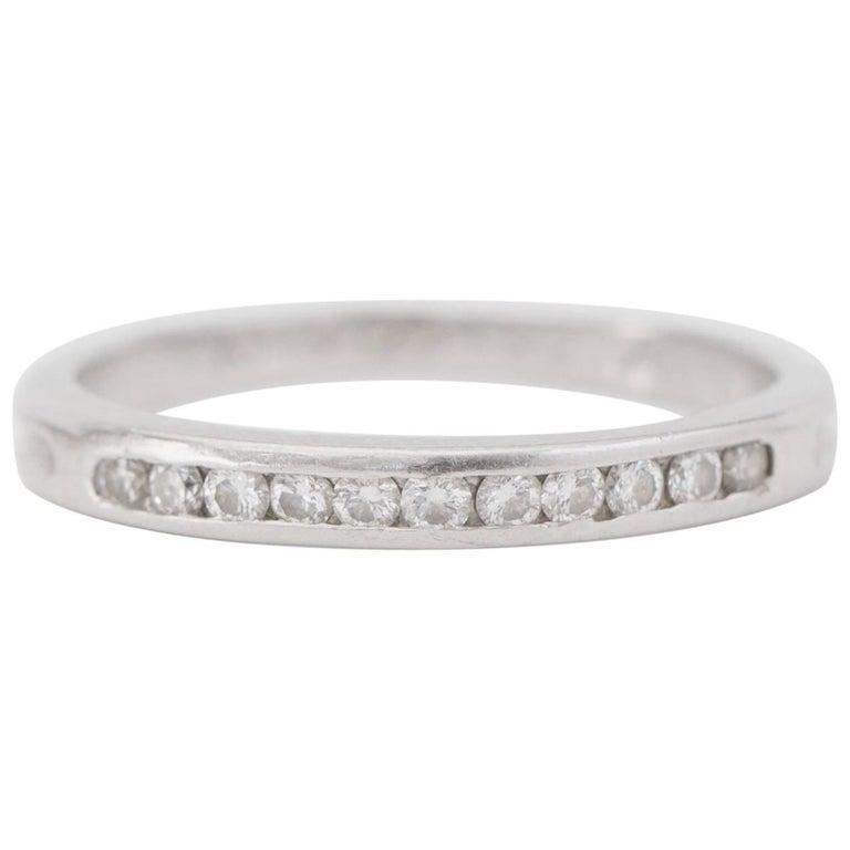 Tiffany & Co 0.25 Carat Diamond and Platinum Band Ring