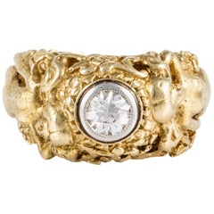 Art Nouveau 18 Karat Ring