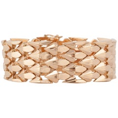 18 Karat Rose Gold Retro Bracelet