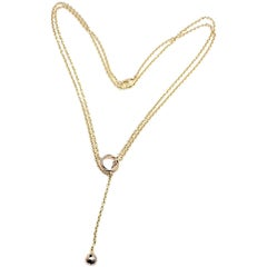 Cartier Baby Trinity Pampilles Lariat Tri-Color Gold Necklace