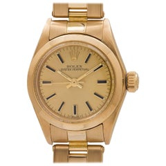 Lady Rolex ladies yellow gold Oyster Perpetual self winding wristwatch, c1979