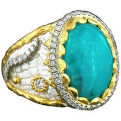 Victor Velyan Brazilian Paraiba and Diamond Ring