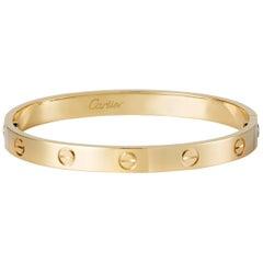 Cartier Bracelet Bangle Love Yellow Gold
