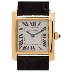Cartier Yellow Gold Tank Francaise Midsize Quartz Wristwatch, circa 2010