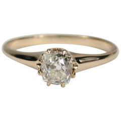 Antique Rose Gold Cushion Cut Diamond Engagement Ring