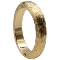 Tiffany & Co. Domed Gold Bangle