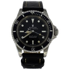 Rolex stainless steel Submariner wristwatch ref 5513, 1970