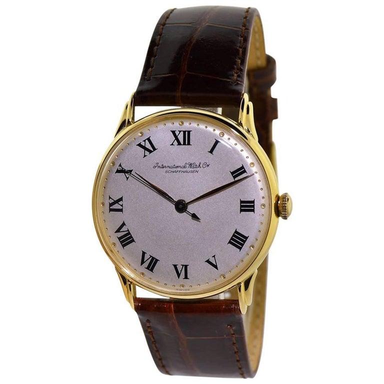 IWC International Watch Company Yellow Gold Manual Watch circa 1950s