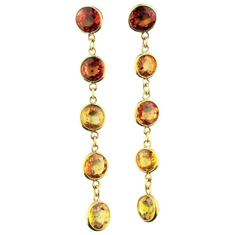 Handmade 16 Carat of Songea Sapphires Gold Stud Earrings