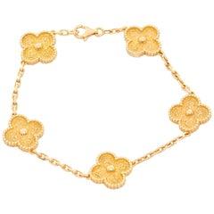 Van Cleef & Arpels Vintage Alhambra Yellow Gold Bracelet