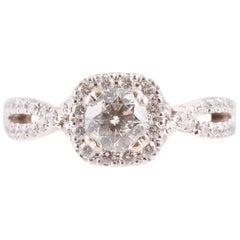 """""""Demetrios"""" White Gold 1 Carat Diamond Engagement Ring"""