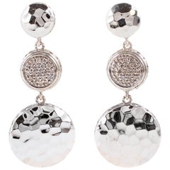 """John Hardy"" Pave Diamond Drop Earrings"
